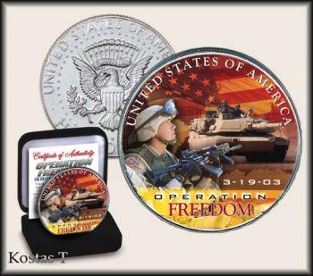 Operation Freedom colorized 2003 US Half Dollar