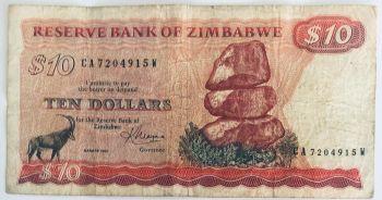ZIMBABWE 1 DOLLAR 2006 BEARER CHEQUE UNC