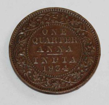 INDIA 1 quarter Anna 1934 Εξαιρετικό