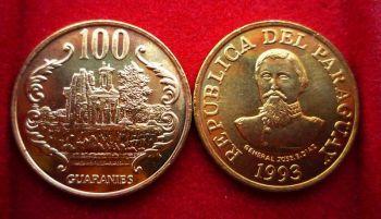 PARAGUAY 100 GUARANIES KM-177a 1993 UNC