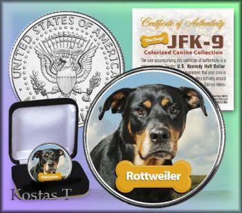 Εγχρωμο μισοδόλαρο Rottweiler