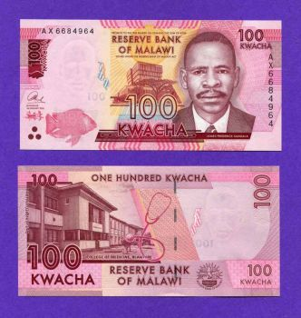 MALAWI 100 KWACHA 2016 UNC