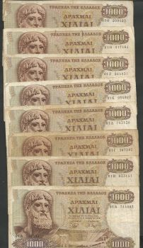 Lot 15 pieces Drx.1000/1970