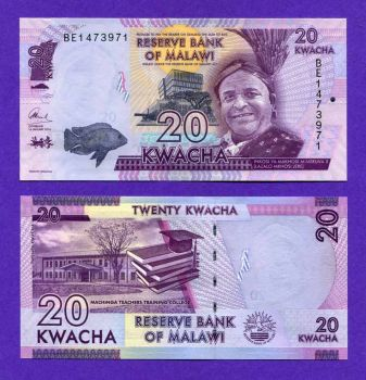 MALAWI 20 KWACHA 2016 P57 UNC