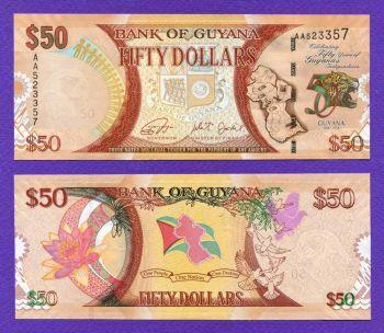 GUYANA 50 Dollars 2016 UNC