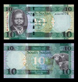 SOUTH SUDAN 10 POUNDS 2015 (2016) UNC