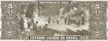 BRAZIL 5 CRUZEIROS  1962