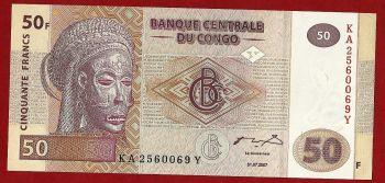 Congo , 50 Francs 2007 , Condition:UNC