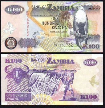ZAMBIA : 100 Kwacha del 2006 Pick 38f FdS UNC