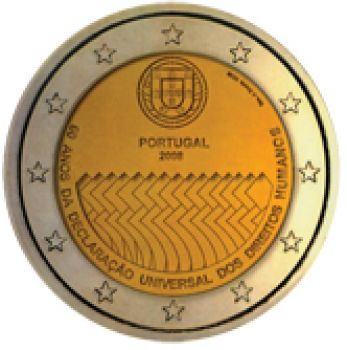 Portugal  2 euro 2008 CC  60th anniversary of the Universal Declaration of Human Rights