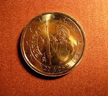 Spain 2 euro 2005 CC 4th centenary of the first edition of Miguel de Cervantes'