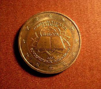 Germany  2 euro  2007 G   CC  ToR     UNC