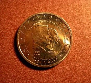 Luxembourg 2 euro 2005 CC    50th birthday of Grand Duke Henri