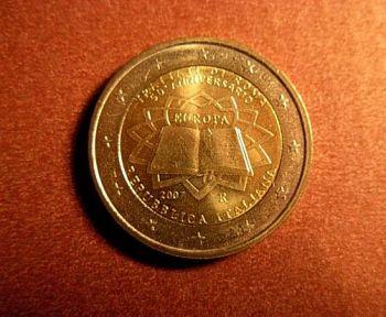 Italy 2 euro  2007 CC  ToR   UNC