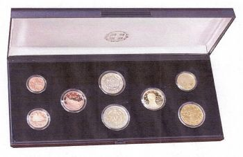 Greece: First Official issue Proof set 2011 in case with C.O.A! BU