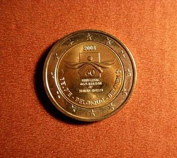 Belgium 2 euro 2008 CC   60th anniversary of the Universal Declaration of Human Rights