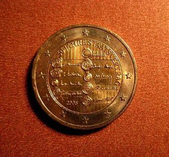 Austria 2 euro 2005 CC  50th anniversary of the Austrian State Treaty