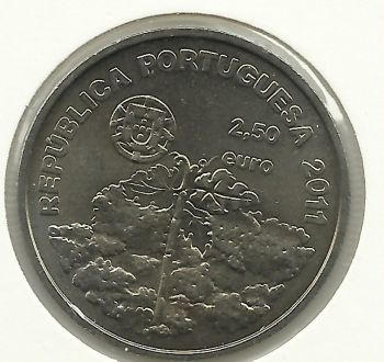 2.5 EUROS-VINHAS ILHA DO PICO-2011-COPPER-NICKEL-UNC