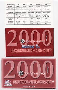 USA 2000D πλήρες Σετ UNC