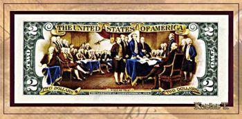 Έγχρωμο χαρτονόμισμα δύο δολαρίων USA