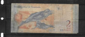 VENEZUELA 2000 BOLIVARES 1998 P 77 UNC
