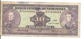 VENEZUELA 5 BOLIVARES 16-12-2008 UNC