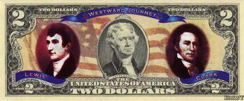 Έγχρωμο χαρτονόμισμα δύο δολαρίων USA No2