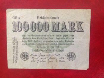 GERMANY 100 MARK 1908 P-33 ΑUNC