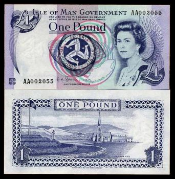 Νήσος Μαν (ISLE OF MAN) 1 POUND (1983 issue, 2009 version) UNC