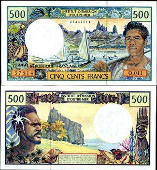 ΓΑΛΛΙΚΗ ΠΟΛΥΝΗΣΙΑ  500 FRANCS 1992 P 1 UNC