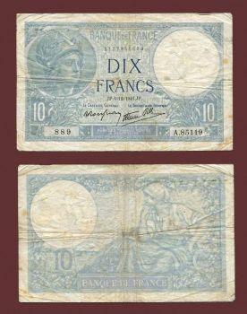 FRANCE 10 FRANCS 4-12-1941