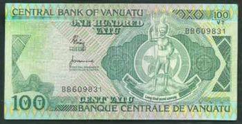 VANUATU 100 VATU 1982 P-1 UNC