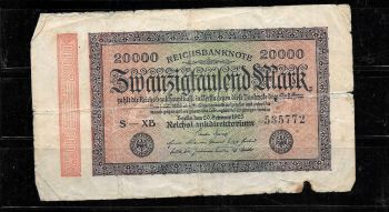 GERMANY 2 MARKS 1914  P-54 UNC