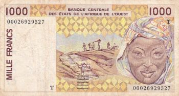 WESTERN AFRICAN STATE TOGO 2000 FRANCS 2003 P-816 T UNC