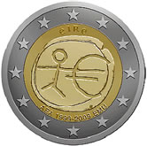 2 Euro 10th anniversary of Economic and Monetary Union 2009