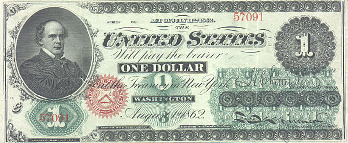 us banknotes - one dollar